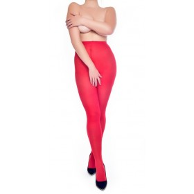 50 Denier Crotchless Tights (Red)