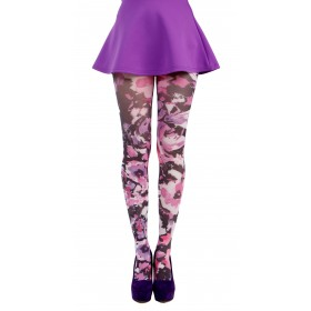 Promise Printed Tights (Purple)