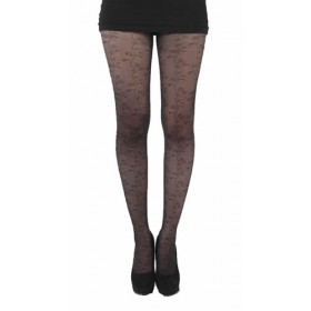 Random Floral Tights (Black)