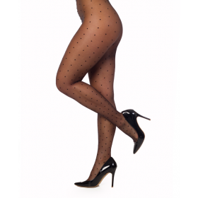 Sheer Dotty Tights (Black)