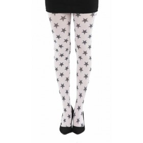 Stars A Printed Tights White (White)