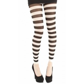 Twickers Footless Tights (White)
