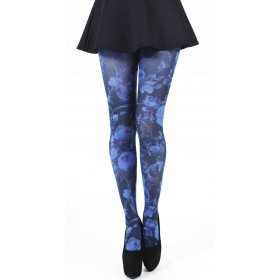 Twilight Printed Tights (Flo Blue)