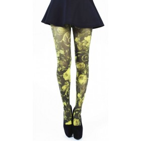Twilight Printed Tights (Flo Yellow)