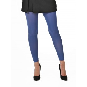50 Denier Footless Tights (Steel Blue)