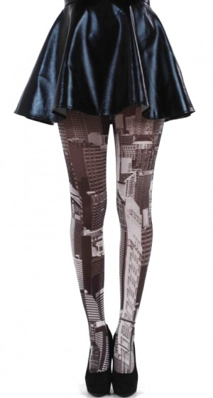 Skyline Printed Tights