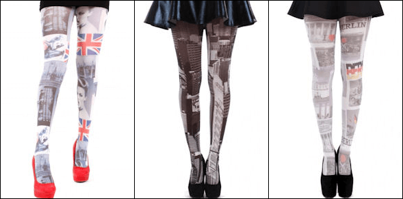 City Printed Tights