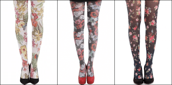 Floral Printed Tights