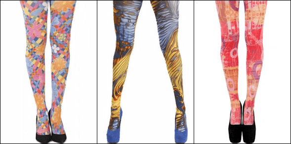 Vibrant Printed Tights